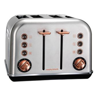 Morphy Richards topinkovač Accents Rosegold Brushed 4S