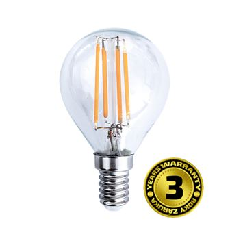 Solight LED žárovka retro, miniglobe, 4W, E14, 3000K, 360°, 440lm