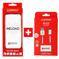 SKROSS PROMO powerbanka Reload 20 + Alarm USB kabel zdarma