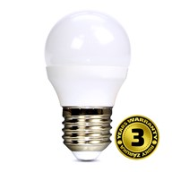 Solight LED žárovka, miniglobe, 6W, E27, 3000K, 450lm