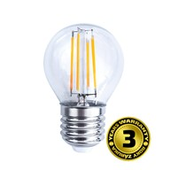 Solight LED žárovka retro, miniglobe, 4W, E27, 3000K, 360°, 440lm