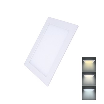 Solight LED mini panel CCT, podhledový, 12W, 900lm, 3000K, 4000K, 6000K, čtvercový